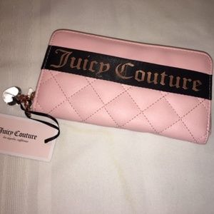 Juicy Couture Bags - Juicy Couture Pink Quilted Wallet NWT